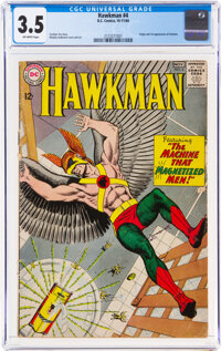 Hawkman #4 (DC, 1964) CGC VG- 3.5 Off-white pages