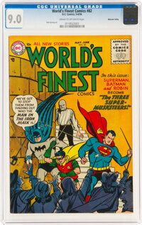 World's Finest Comics #82 Mohawk Valley Pedigree (DC, 1956) CGC VF/NM 9.0 Cream to off-white pages