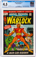 Bronze Age (1970-1979):Superhero, Marvel Premiere #1 Warlock (Marvel, 1972) CGC VG+ 4.5 Off-white to white pages....
