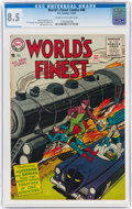 Silver Age (1956-1969):Superhero, World's Finest Comics #80 (DC, 1956) CGC VF+ 8.5 Cream to off-white pages....