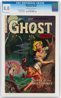 Ghost #8 (Fiction House, 1953) CGC VF 8.0 Off-white to white pages