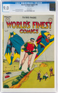 Golden Age (1938-1955):Superhero, World's Finest Comics #46 (DC, 1950) CGC VF/NM 9.0 White pages....