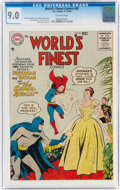 Silver Age (1956-1969):Superhero, World's Finest Comics #85 (DC, 1956) CGC VF/NM 9.0 Off-white pages....