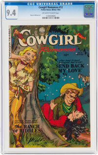 Cowgirl Romances #12 (Fiction House, 1953) CGC NM 9.4 Off-white to white pages