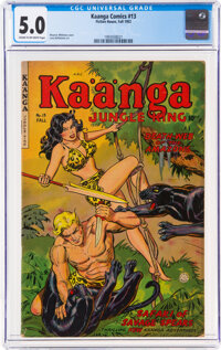 Kaanga Comics #13 (Fiction House, 1952) CGC VG/FN 5.0 Cream to off-white pages