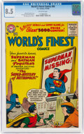 Silver Age (1956-1969):Superhero, World's Finest Comics #84 (DC, 1956) CGC VF+ 8.5 Off-white pages....