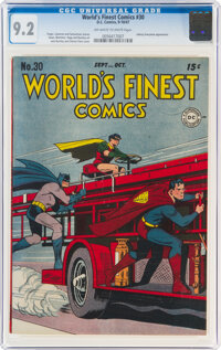 World's Finest Comics #30 (DC, 1947) CGC NM- 9.2 Off-white to white pages