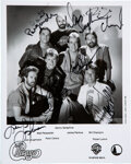 Music Memorabilia:Autographs and Signed Items, Chicago Signed Black and White Promo Photo (1984)....
