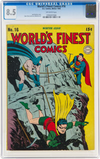 World's Finest Comics #16 (DC, 1944) CGC VF+ 8.5 Off-white pages
