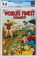 Golden Age (1938-1955):Superhero, World's Finest Comics #11 Rockford Pedigree (DC, 1943) CGC VF/NM 9.0 Off-white to white pages....