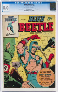 Blue Beetle #29 (Holyoke, 1944) CGC VF 8.0 Cream to off-white pages