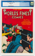 Golden Age (1938-1955):Superhero, World's Finest Comics #44 (DC, 1950) CGC VF/NM 9.0 White pages....