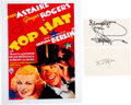 Movie/TV Memorabilia:Autographs and Signed Items, Ginger Rogers and Fred Astaire Separate Signatures With Co...
