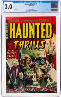 Haunted Thrills #5 (Farrell, 1953) CGC GD/VG 3.0 Off-white pages