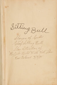 Sitting Bull Signed Copy of A Popular Life of Gen. George A. Custer by Frederick Whittaker