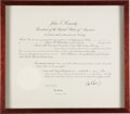 Autographs:U.S. Presidents, John F. Kennedy Signed Appointment....