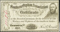 Obsoletes By State:Virginia, Richmond, VA- Southern Orphan Association $1 1867 Choice About Uncirculated.. ...