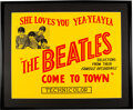 Music Memorabilia:Posters, The Beatles She Loves You Yea-Yea-Yea Come to Town Advertising Poster (1963). ...