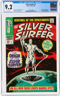 The Silver Surfer #1 (Marvel, 1968) CGC NM- 9.2 White pages