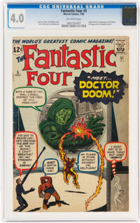 Fantastic Four #5 (Marvel, 1962) CGC VG 4.0 Off-white pages