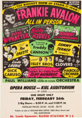 Music Memorabilia:Posters, Biggest Show of Stars 1960 Colorful Concert Handbill Starring Many Hit-Makers....
