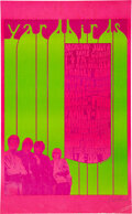 Music Memorabilia:Posters, The Yardbirds 1967 Vancouver, B.C. Concert Poster Signed by Artist Bob Masse....