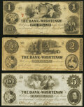 Obsoletes By State:Michigan, Ann Arbor, MI- Bank of Washtenaw $1; $2; $5 May 1, 1854 Fine or Better.. ... (Total: 3 notes)
