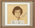Music Memorabilia:Autographs and Signed Items, Neil Diamond Signed and Inscribed You Don't Bring Me Flowers Vinyl Album Jacket in Frame (Columbia, FC 35625)....