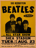 Music Memorabilia:Posters, The Beatles 1966 Genuine Shea Stadium NY Concert Poster, Brand New to the Hobby. ...