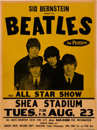 The Beatles 1966 Genuine Shea Stadium NY Concert Poster, Brand New to the Hobby