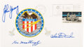 Explorers:Space Exploration, Apollo 16 Crew-Signed Insurance Cover Originally from the ...