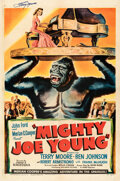"""Movie Posters:Horror, Mighty Joe Young (RKO, 1949). Very Fine on Linen. Autographed One Sheet (27"""" X 41"""") Style B, Gene Widhoff Artwork."""