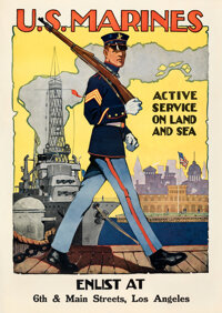 "World War I Propaganda (U.S. Government Printing Office, 1917). Fine/Very Fine on Linen. Recruitment Poster (28.25""..."
