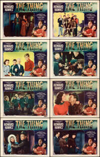 "The Thing from Another World (RKO, 1951). Very Fine-. Lobby Card Set of 8 (11"" X 14""). ... (Total: 8)"