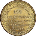 U.S. Merchant Tokens (1845-1860), (1848-52) Chicago, Illinois, C.N. Holden & Co., M. ILL-14 MS66 NGC. Brass, reeded edge.. Ex: Donald G. Partrick....
