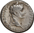Ancients:Roman Imperial, Ancients: Tiberius (AD 14-37). AR denarius (19mm, 11h). NGC VG. ...