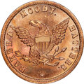 U.S. Merchant Tokens (1845-1860), (1853-57) Chicago, Illinois, Baker & Moody, Hatters, M. ILL-4 MS66 Red NGC. Copper, plain edge.. Ex: Donald G. Partrick....