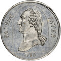 U.S. Merchant Tokens (1845-1860), 1853 Mobile Alabama Mobile Jockey Club, M. ALA-5 MS64 NGC. White metal, plain edge.. Ex: Donald G. Partrick....