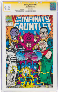 The Infinity Gauntlet #5 Signature Series - George Perez (Marvel, 1991) CGC NM- 9.2 White pages