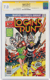 Logan's Run #1 Signature Series - George Perez (Marvel, 1977) CGC FN/VF 7.0 Off-white to white pages