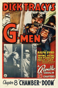 Movie Posters:Serial, Dick Tracy's G-Men (Republic, 1939). Very Fine- on Linen.