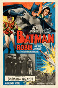 Movie Posters:Serial, The New Adventures of Batman and Robin (Columbia, 1949). V...