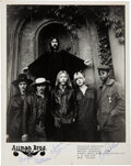 Music Memorabilia:Autographs and Signed Items, The Allman Brothers Band Signed Promo Photo....