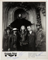 The Allman Brothers Band Signed Promo Photo