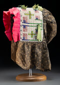 American Indian Art:Beadwork and Quillwork, A Sioux Woman's Beaded Cloth Pictorial Bonnet ...