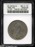 Early Half Dollars: , 1806 50C Pointed 6, Stem--Tooled, Whizzed--ANACS. XF ...