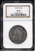 Bust Half Dollars: , 1814/3 50C XF45 NGC. O-101a, R.2. The top crossbar of the ...