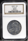 Bust Half Dollars: , 1824/1 50C Overdate AU53 NGC. O-101a, R.2. The 4 in the ...
