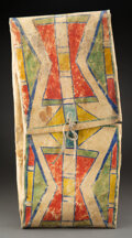 American Indian Art:Pipes, Tools, and Weapons, A Plateau Painted Parfleche Envelope c. 1890