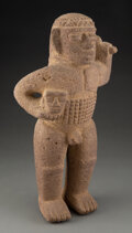 Pre-Columbian:Stone, A Large and Important Standing Warrior...